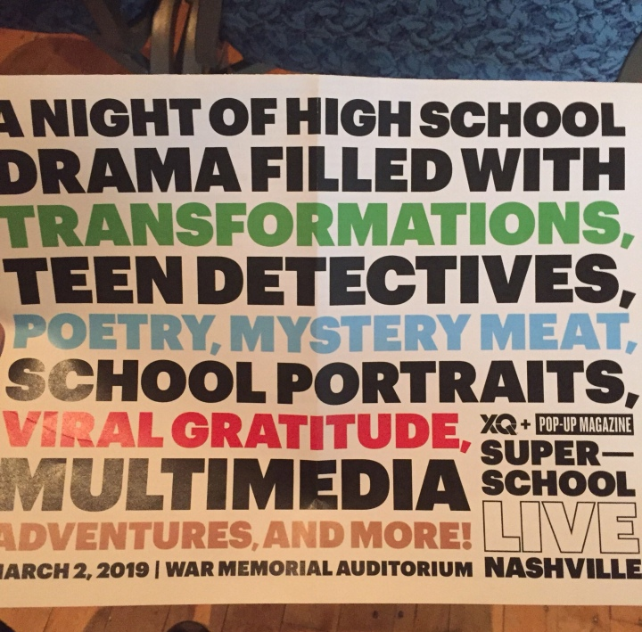 Saturday Night (XQ) Live in Nashville, A Celebration Of Schooling